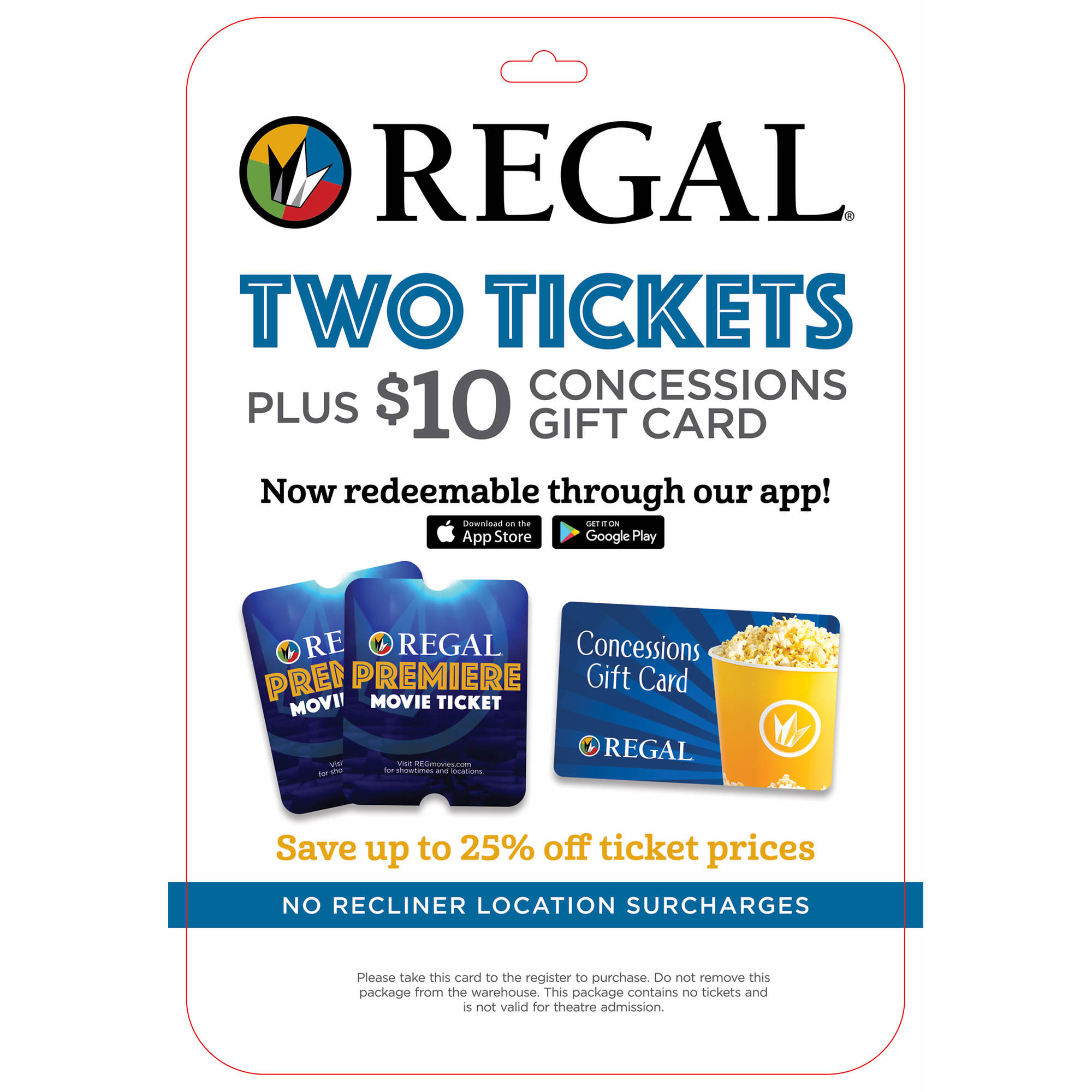regal entertainment group premiere movie ticket 2 pk with 10 gift card bj 39 s wholesale club. Black Bedroom Furniture Sets. Home Design Ideas