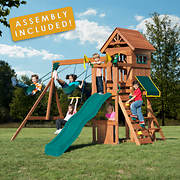 Backyard Play Systems Swing Fort Swing Set with Professional Installat