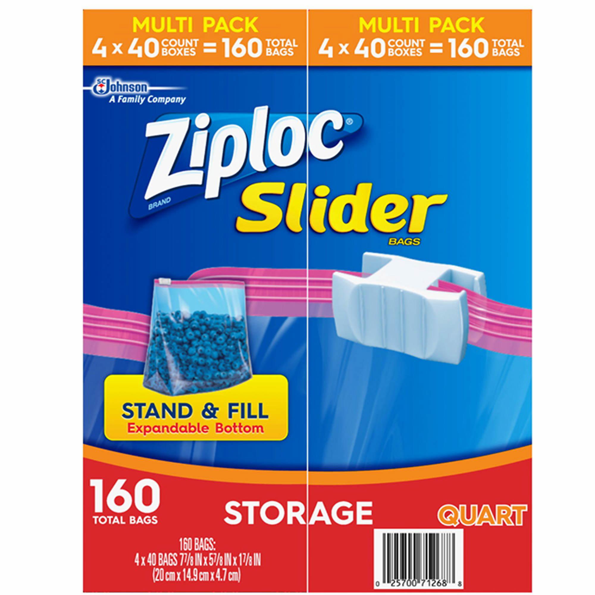 Ziploc Slider Storage Bags Quart Size 160 Ct Bj S