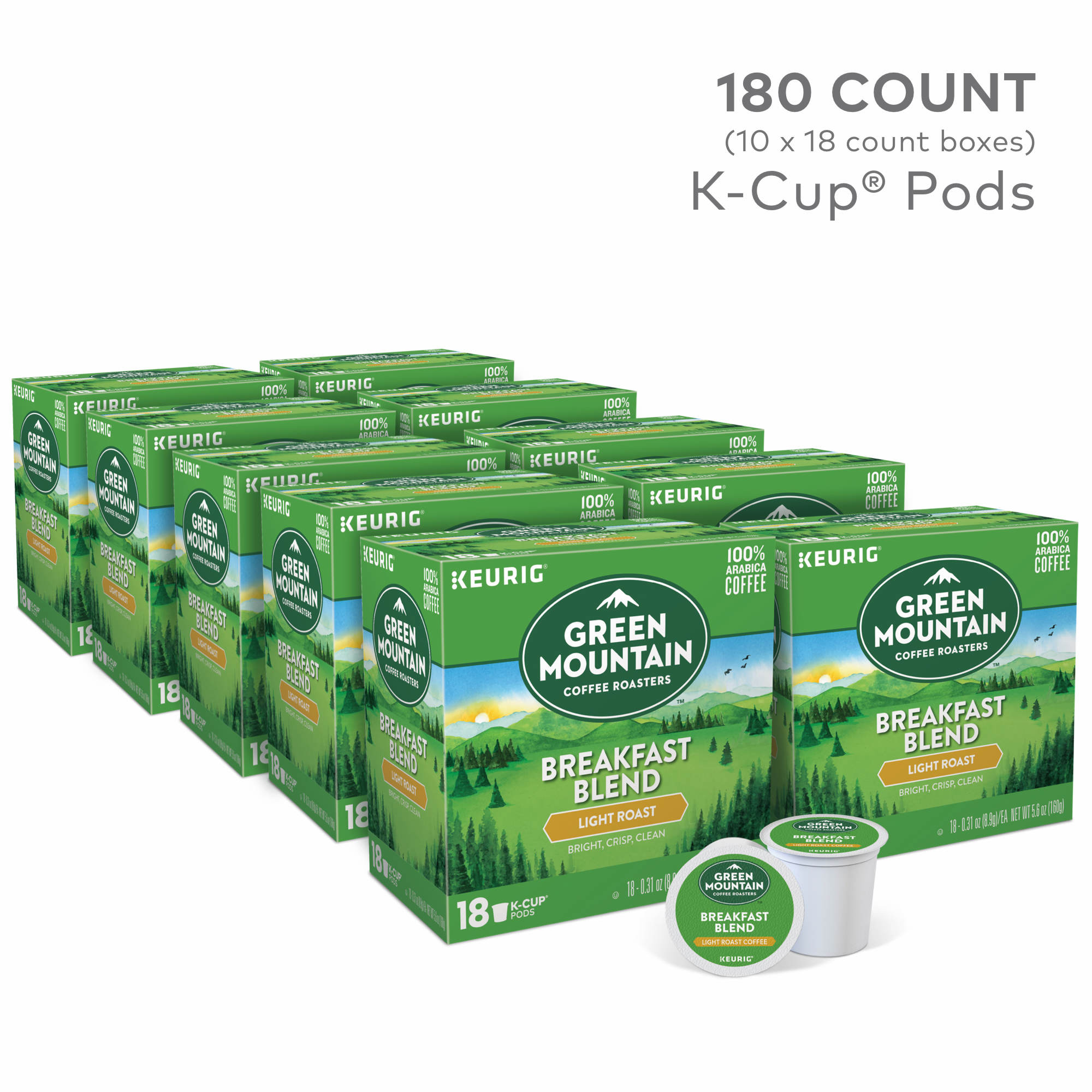 Green Mountain Coffee Breakfast Blend K Cup Pods 180 Ct Bjs