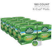 Green Mountain Coffee Breakfast Blend K-Cup Pods, 180 ct.