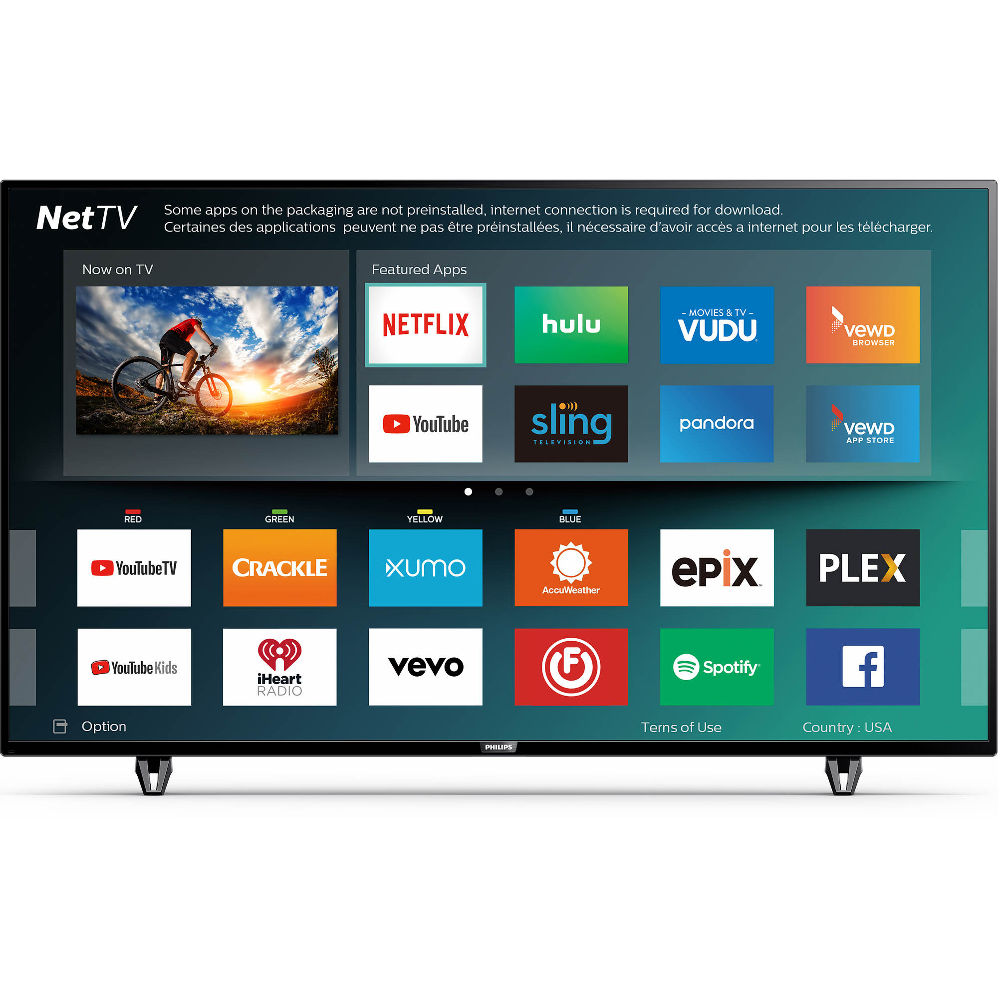 Philips 50pfl5703 F7 50 4k Uhd Hdr Smart Led Tv Bjs Wholesale Club As Well Samsung Circuit Board Schematic Also 2 Undefined 3