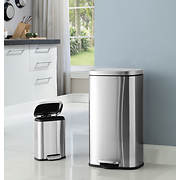 Neu Home Stainless Steel Trash Cans, 30L and 5L, 2 pk.
