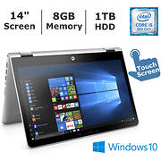 HP Pavilion x360 Convertible Laptop, Intel Core i5-8250U, 8GB Memory,