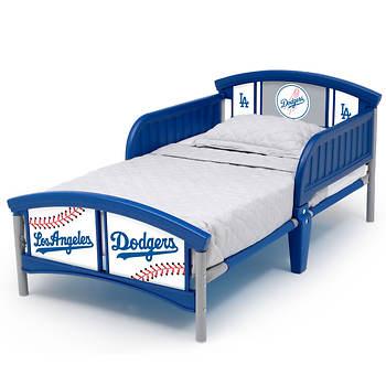 Delta Children Los Angeles Dodgers Plastic Toddler Bed Bjs