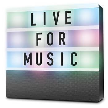 Sharper Image Cinematic Light Box Bluetooth Speaker Bjs Wholesale Club