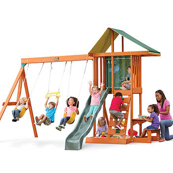 Kidkraft Springfield Ii Wooden Swing Set Bjs Wholesale Club