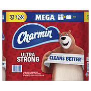 Charmin Ultra Strong Mega Rolls 286-Sheet 2-Ply Bathroom Tissue, 32 pk