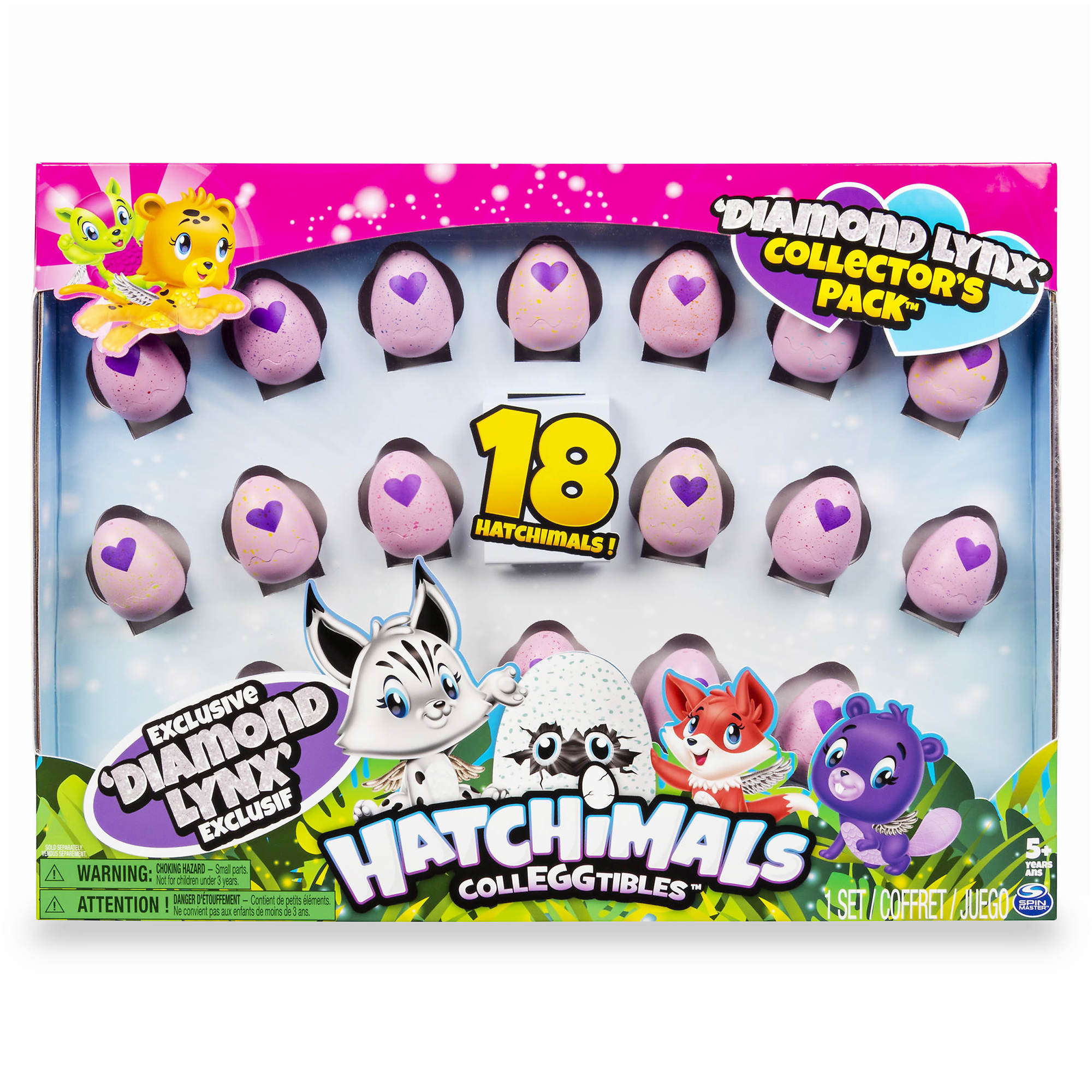 Hatchimals Colleggtibles Diamond Lynx Collectors Pack Mystery 18-Pack