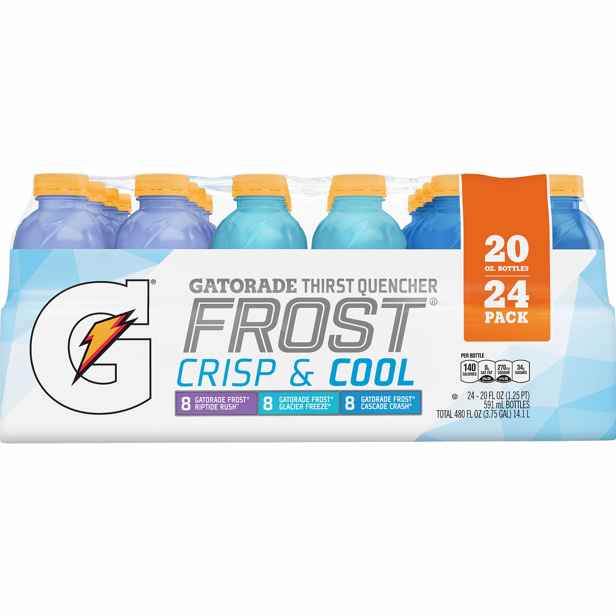 Motivational Quotes For Sports Teams: Gatorade Thirst Quencher Frost Variety Pack, 24 Pk./20 Fl