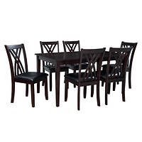 Deals on Powell Masten 7-Pc. Espresso Dining Set