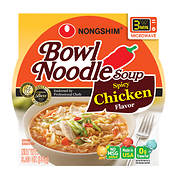 Nong Shim Spicy Chicken Bowl Noodle Soup, 12 pk./3.03 oz.