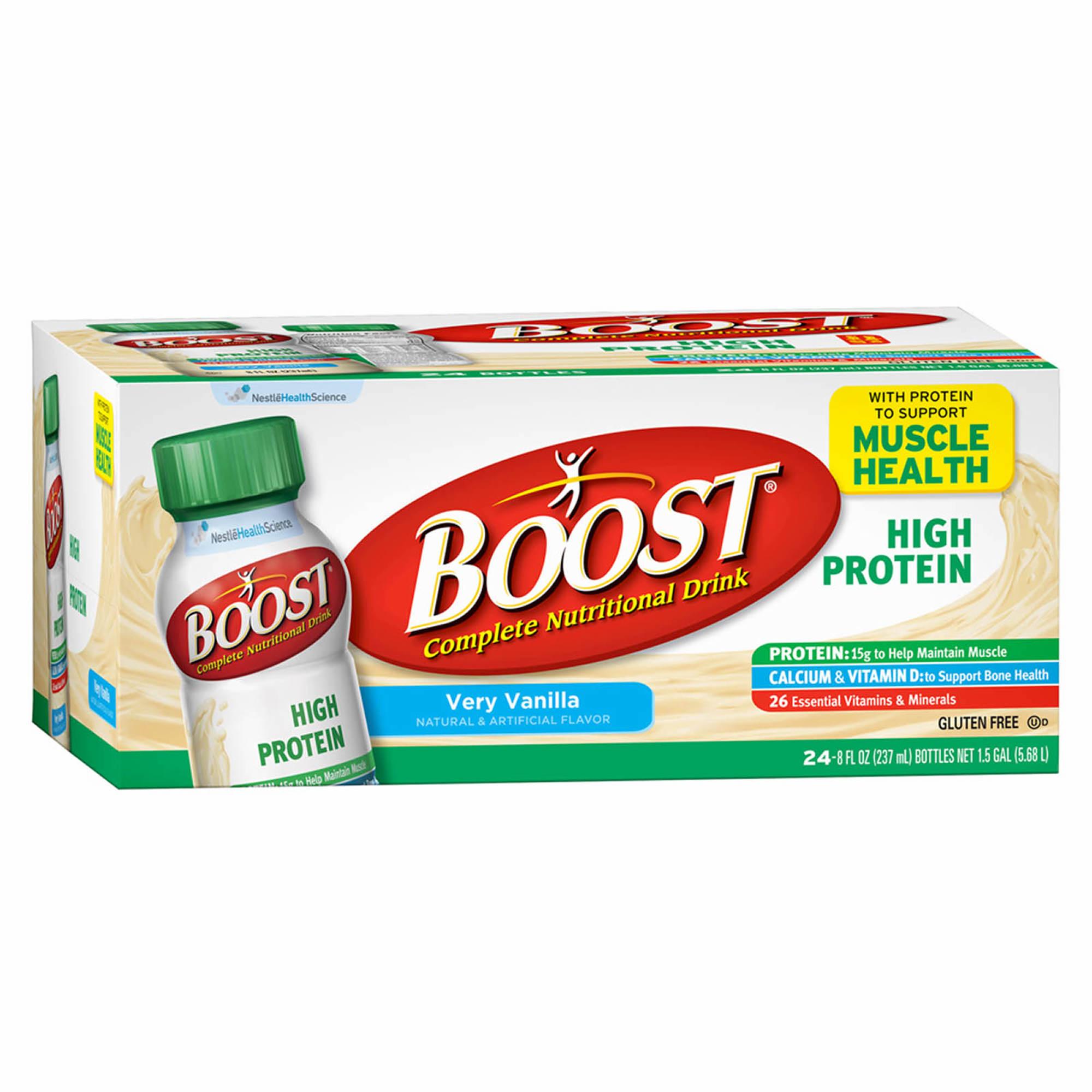 Boost High Protein Energy Drink 8 Oz: Boost High-Protein Drink, Vanilla, 24 Pk./8 Oz.