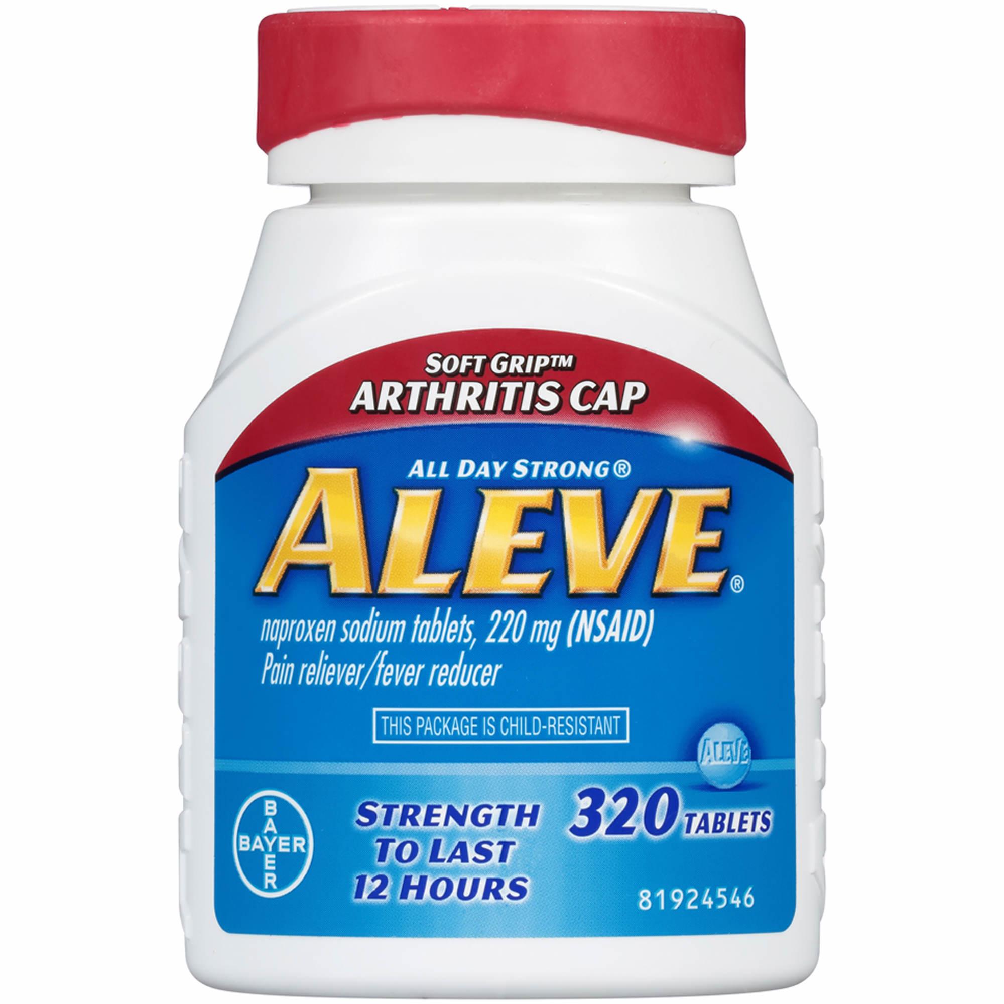 Aleve Pain Reliever With Arthritis Cap 320 Ct Bjs Wholesale Club Counterpain Medium 0 Undefined 1 2