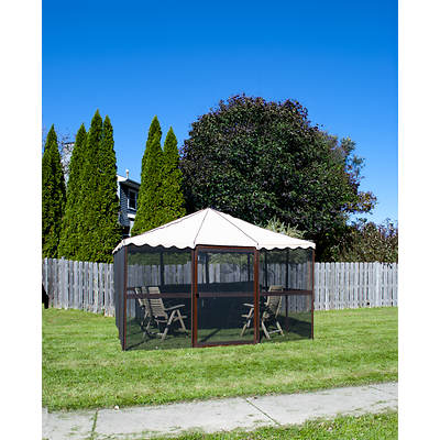 "Casita 11'7"" Square Screenhouse - Chestnut/Almond"