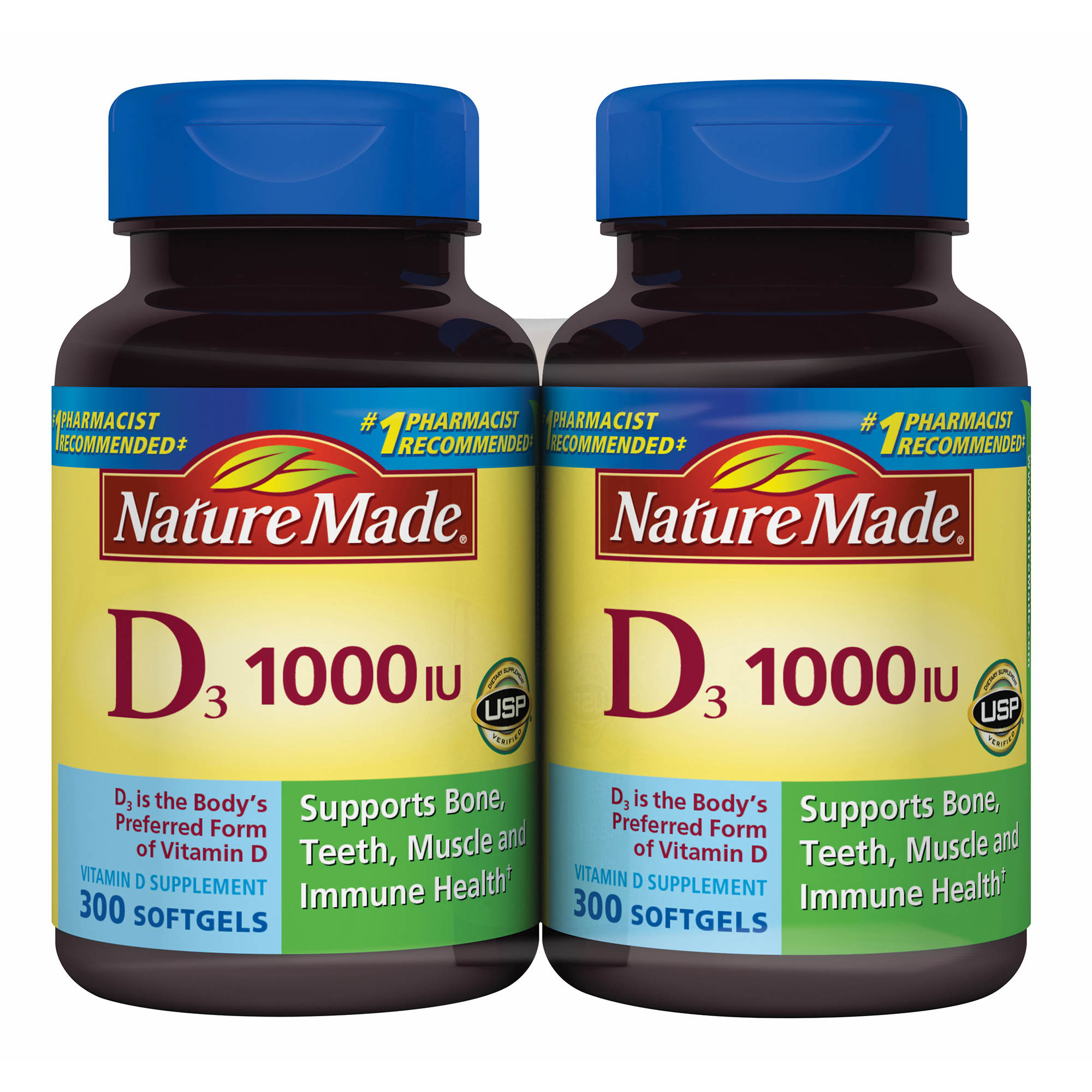 Nature Made Vitamin D3 Tablets, 1000 IU, 300 ct. - BJ's ...