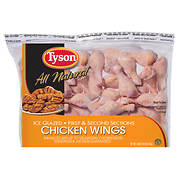 Tyson All Natural Raw Chicken Wings, 10 lbs.