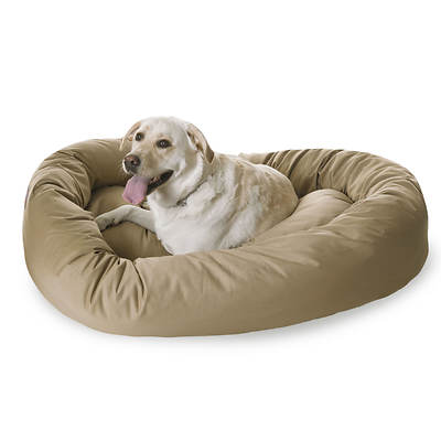"Majestic Pet Products 52"" Extra-Large Twill Bagel Donut Pet Bed for Do"