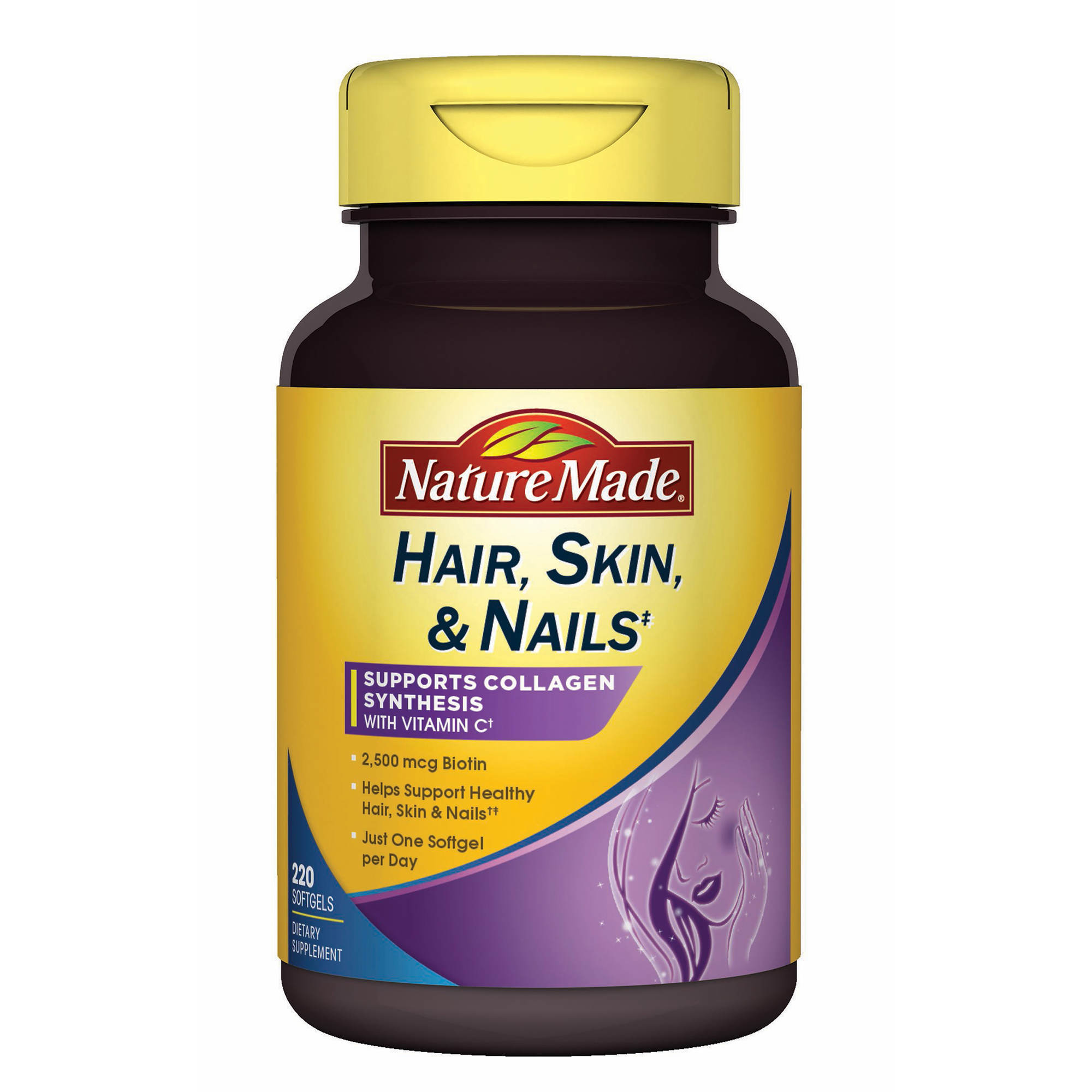 Nature Made Hair Skin And Nails Supplement 220 Ct Bjs Wholesale Triple Flex Strength 170 Caplets 0 Undefined