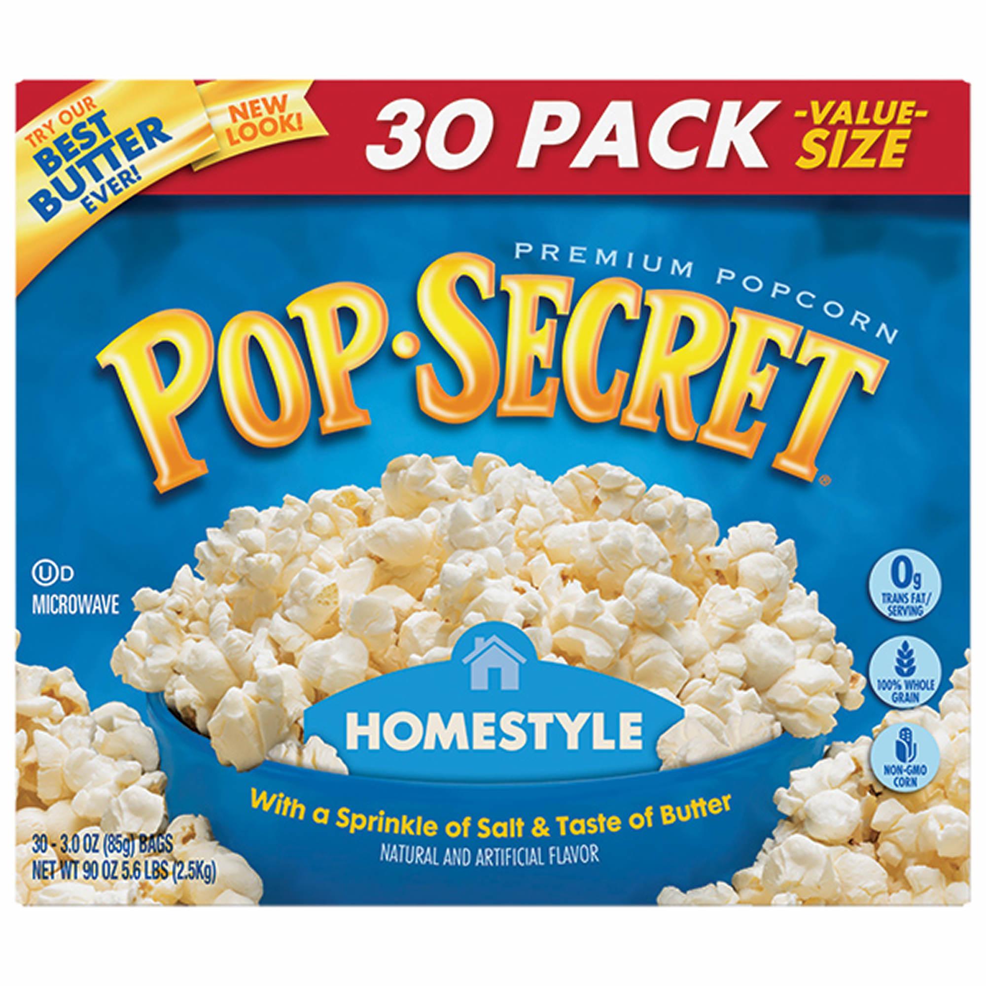 Pop Secret Homestyle Microwave Popcorn, 30 ct. - BJs WholeSale Club