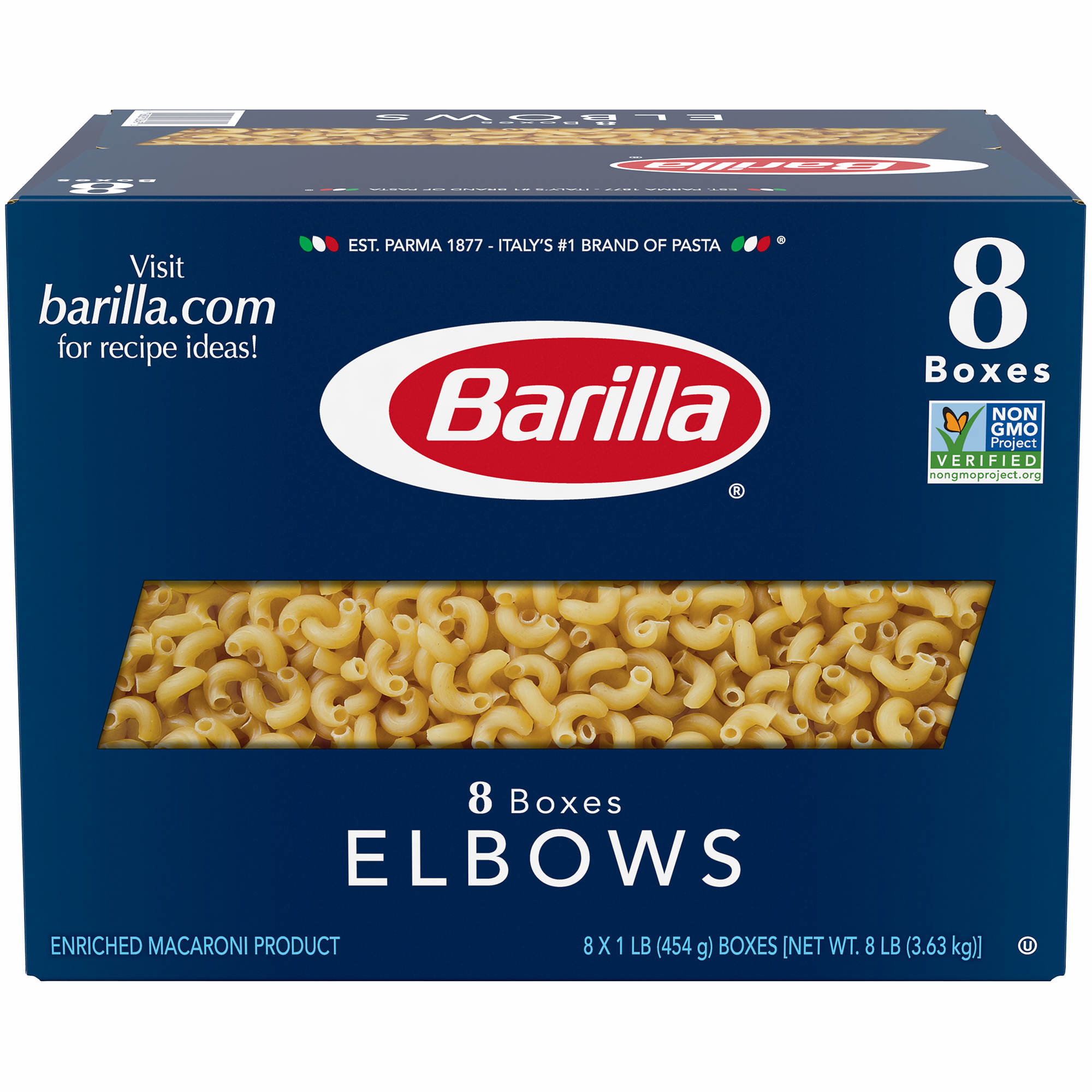 barilla elbows 1 lbs 8 ct bj s whole club barilla elbows 1 lbs 8 ct