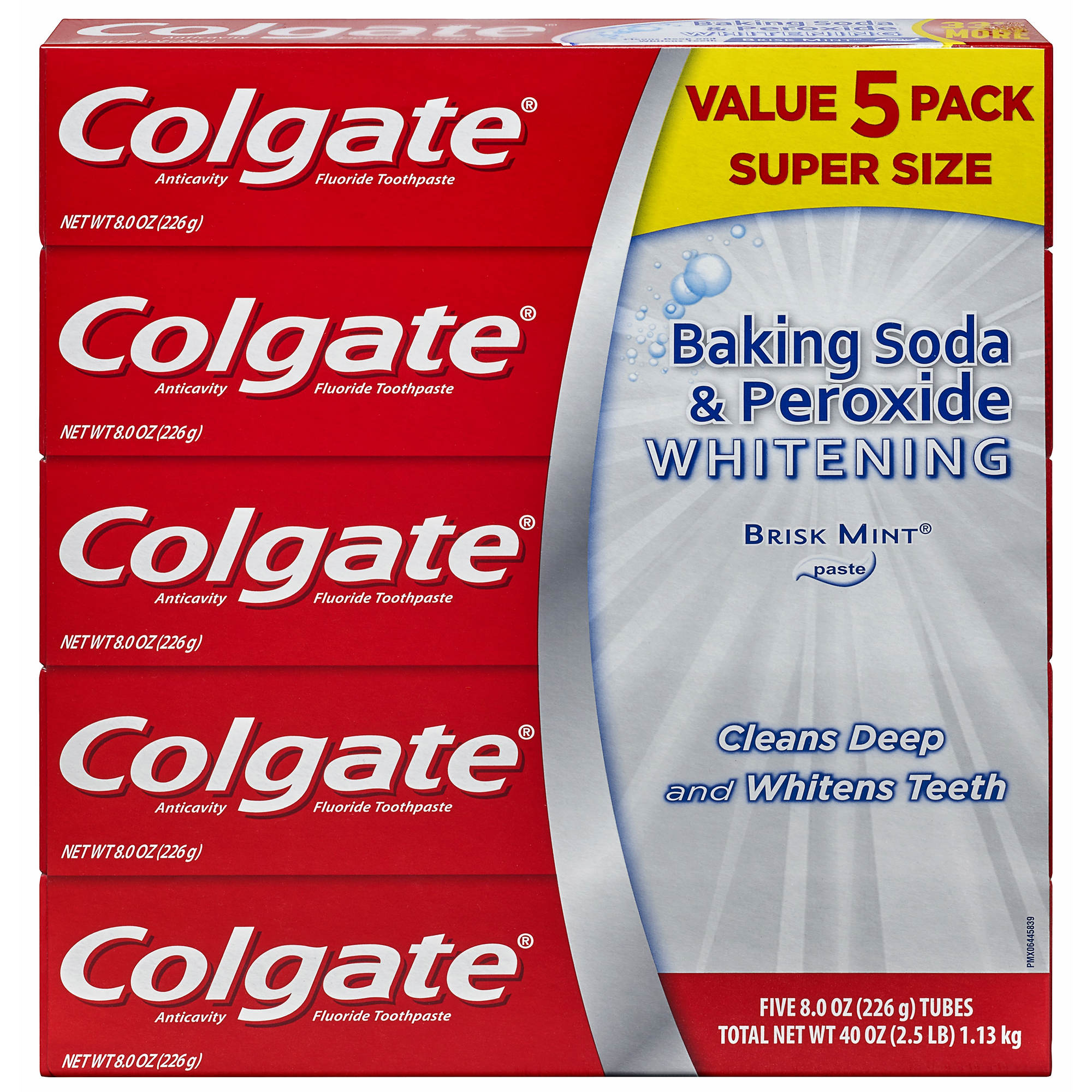 colgate baking soda and peroxide whitening toothpaste 5 pk 8 oz bj 39 s wholesale club. Black Bedroom Furniture Sets. Home Design Ideas