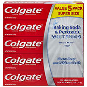 Colgate Baking Soda and Peroxide Whitening Toothpaste, 5 pk./8 oz.