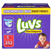 Luvs Ultra Leakguards Diapers, Size 1, 252 ct.