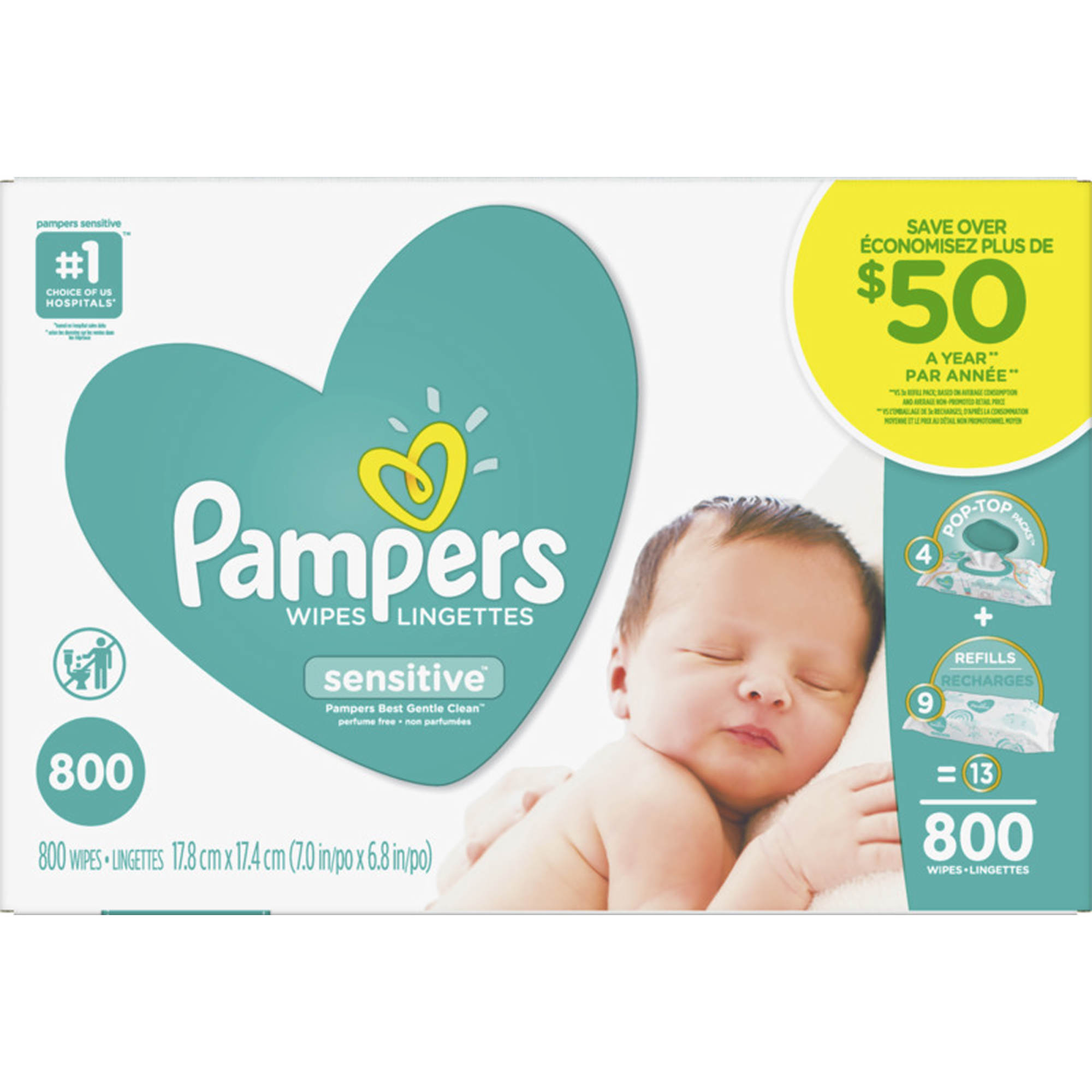 Pampers Sensitive Baby Wipes 800 Ct Bj S Wholesale Club