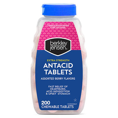 Berkley Jensen Berkley Jensen Extra Strength Antacid Tablets, Assorted Berry Flavors,