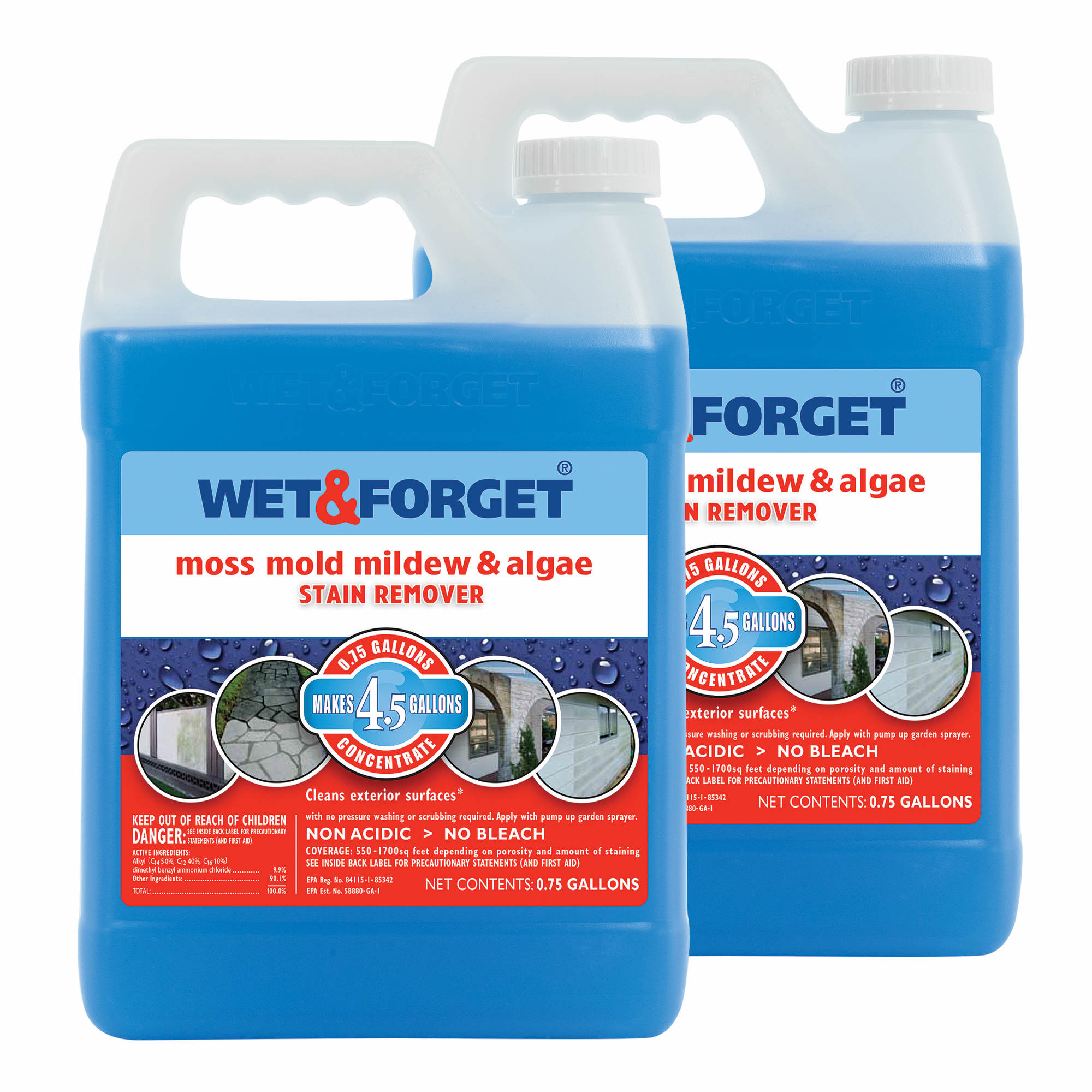 Wet Amp Forget Moss Mold Mildew Amp Algae Stain Remover 2