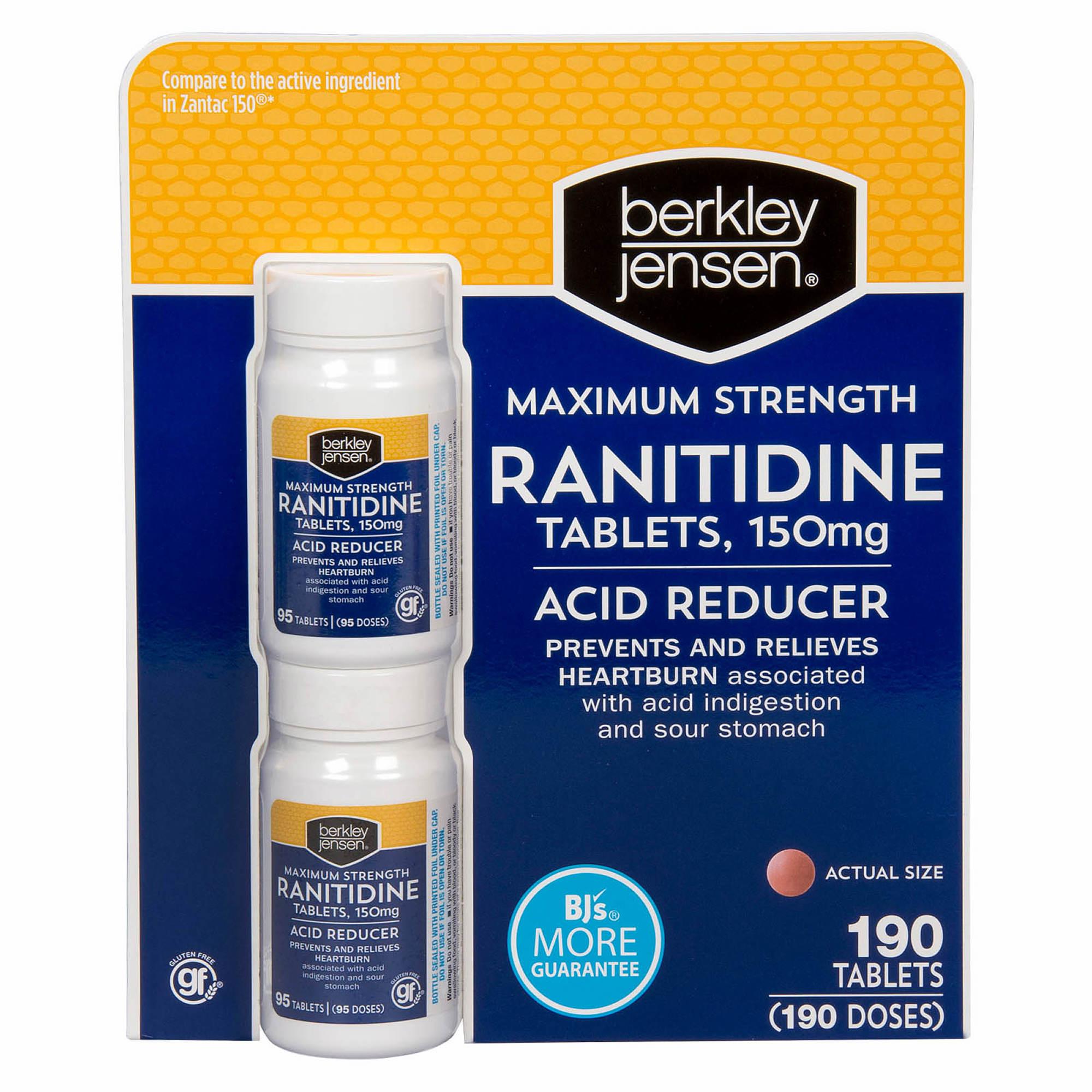 berkley jensen 150mg ranitidine tablets, 2 pk./95 ct. - bjs
