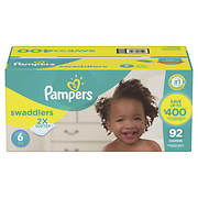 Pampers Swaddlers Diapers, Size 6, 92 ct.