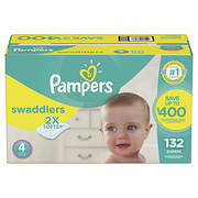Pampers Swaddlers Diapers, Size 4, 132 ct.