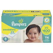 Pampers Swaddlers Diapers, Size 5 116 ct.
