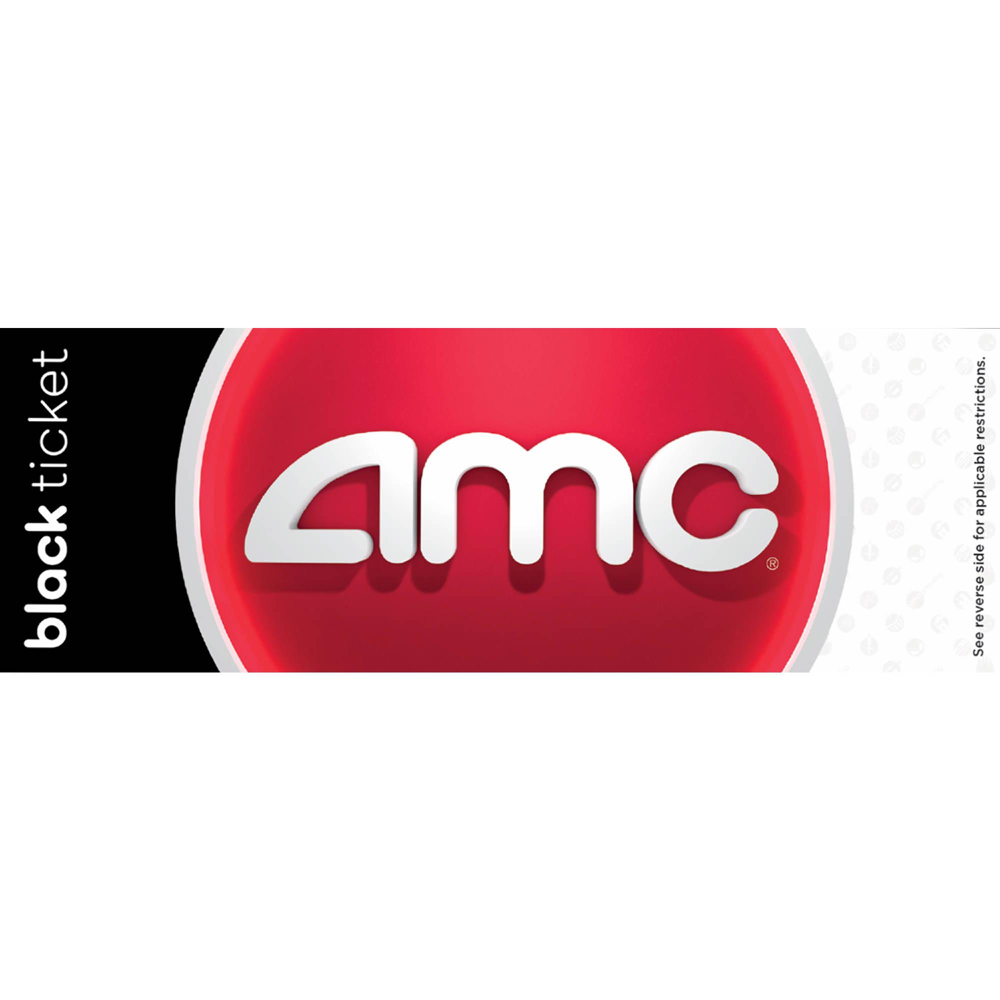 AMC Black Movie Ticket, 2 Pk.