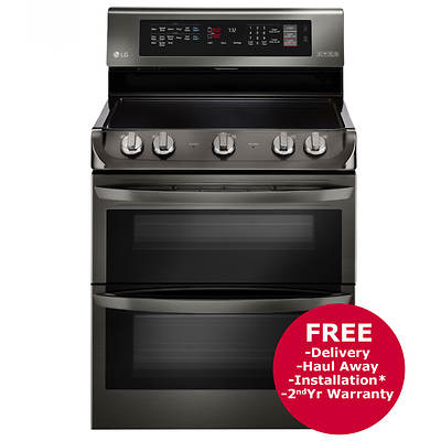 LG 7.3-Cu.-Ft. Double Oven Electric Range - Black Stainless