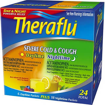 Theraflu Severe Cold Cough Daytime 6 Ct And Nighttime 18 Ct