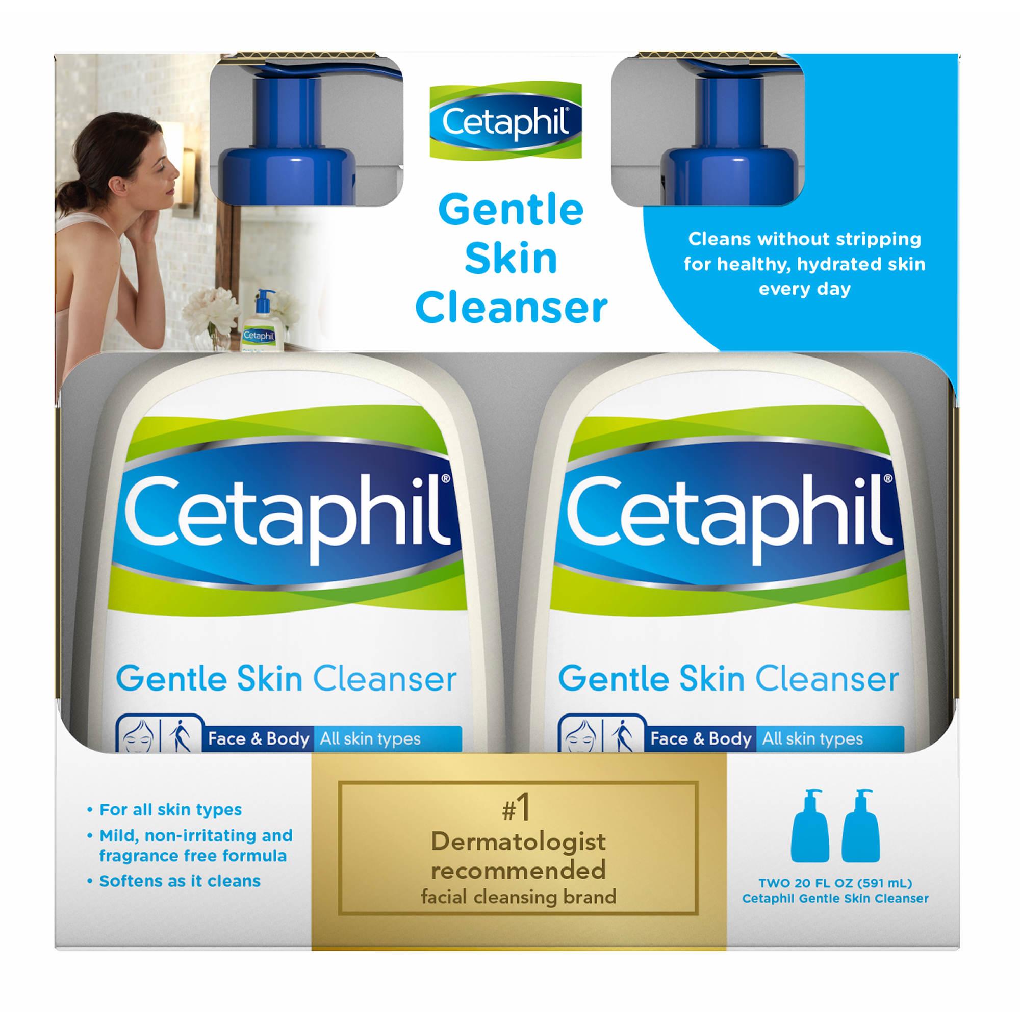 Cetaphil Gentle Skin Cleanser 2 Pk 20 Fl Oz Bjs Wholesale Club Moisturizing Cream Face Ampamp Body 0 Undefined