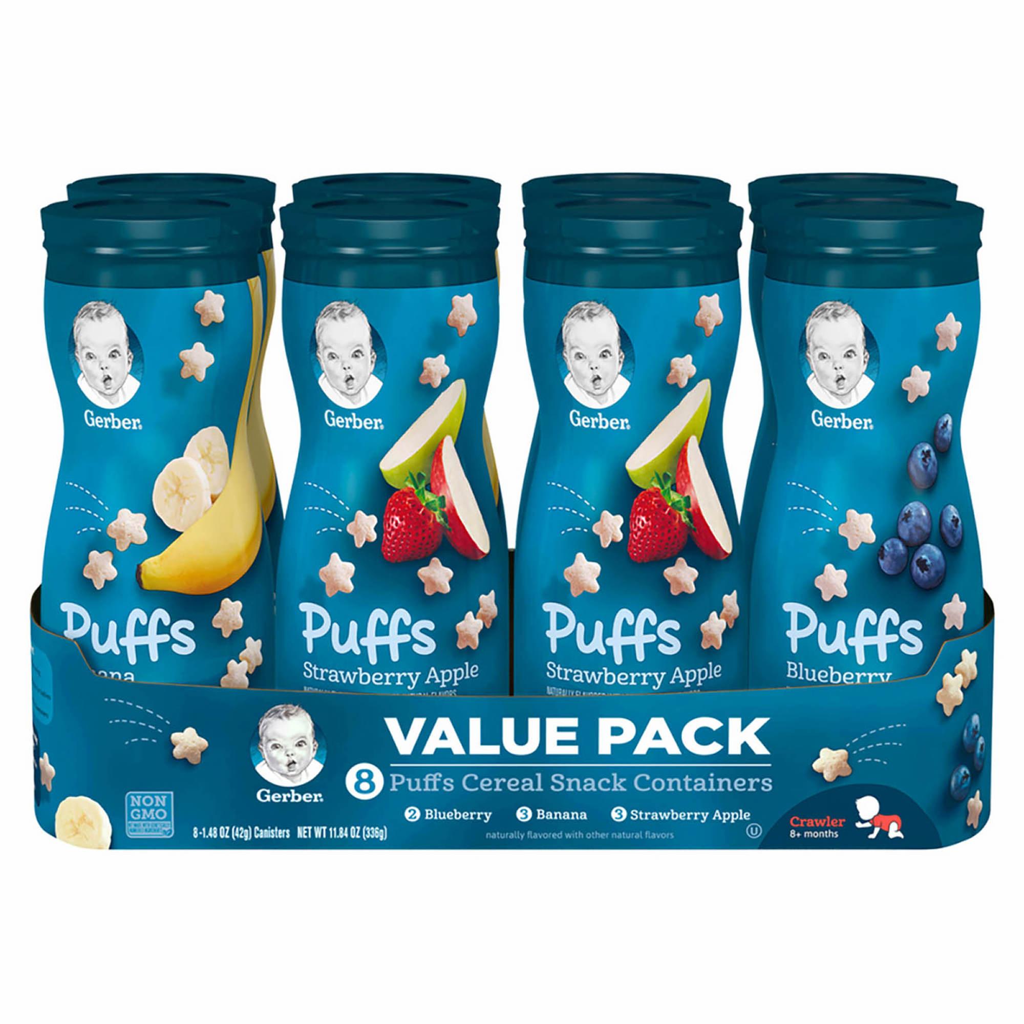 Gerber Graduates Puffs Cereal Snack, 8 Pk./1.48 Oz.