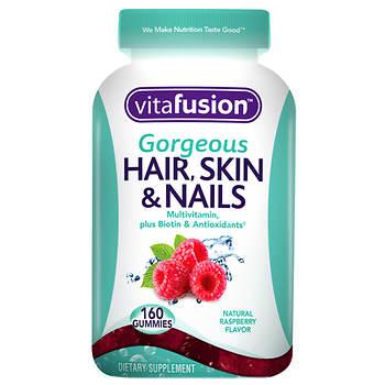 Vitafusion Gorgeous Hair Skin And Nails Multivitamin Gummies 160 Ct