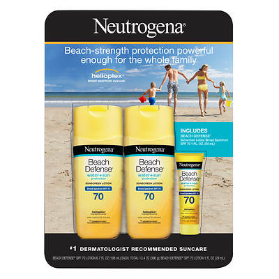 Neutrogena Neutrogena Beach Defense Sunscreen Spf 70, 2 Pk./6.7 Oz. With Beach De