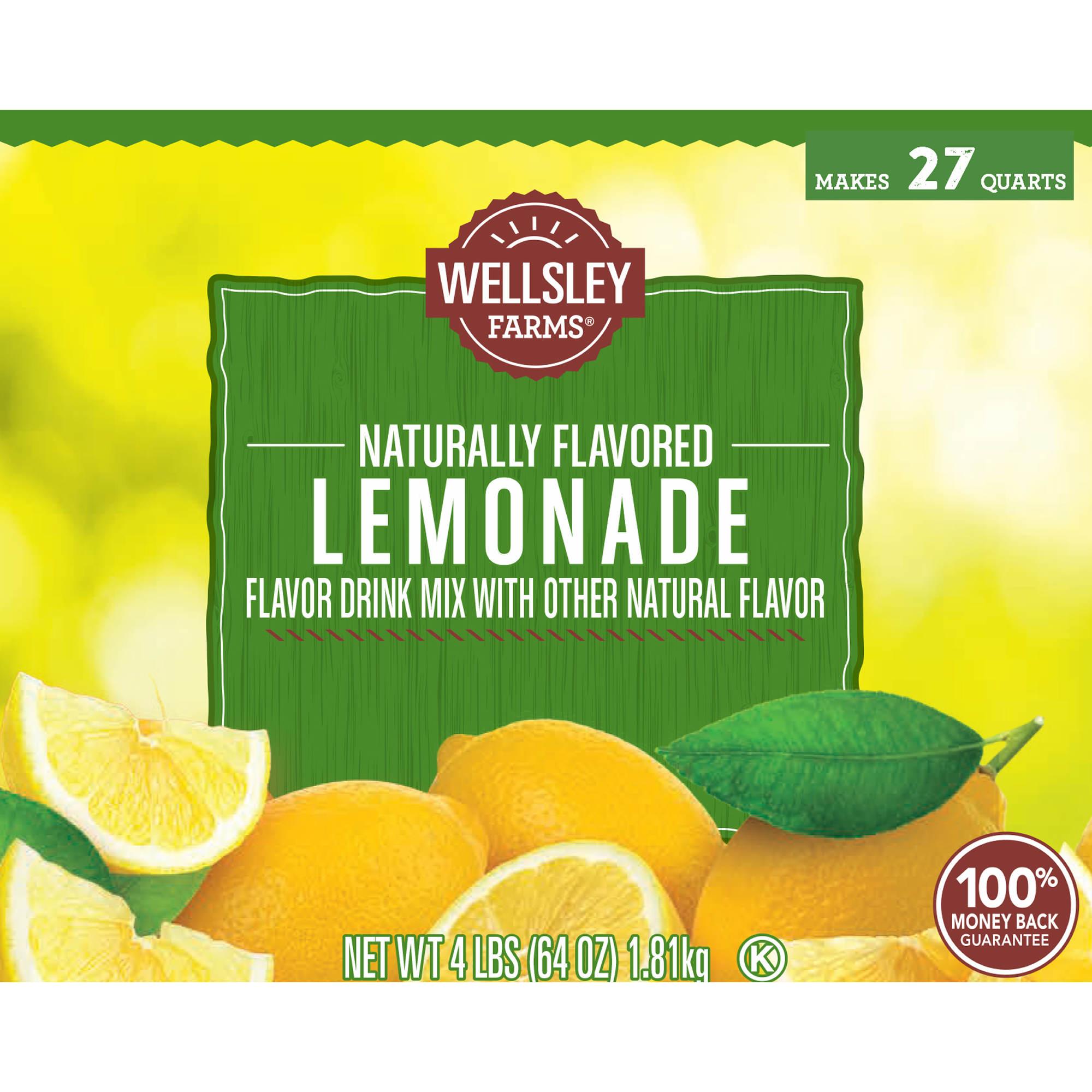 Wellsley Farms Lemonade Mix 2 Pk64 Oz Bjs Wholesale Club