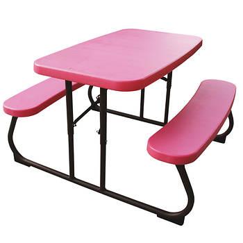 Lifetime Kids Picnic Table Pink Bronze Bjs Wholesale Club