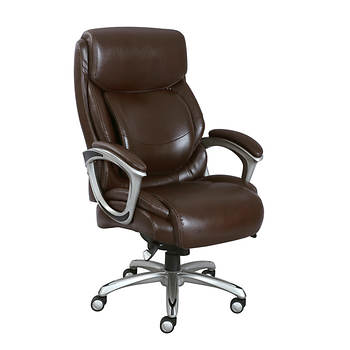 La Z Boy Big And Tall Bonded Leather Executive Chair Brown Bjs