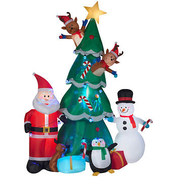 gemmy animated christmas tree scene inflatable - Motorized Christmas Decorations