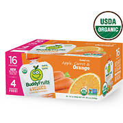 Buddy Fruits & Veggies Apple, Carrot and Orange, 16 ct./3.2 oz.