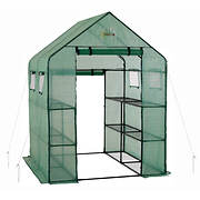 Ogrow Deluxe Walk-in 2-Tier 8-Shelf Portable Lawn and Garden Greenhous