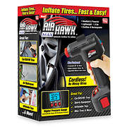 Air Hawk Deluxe Cordless Tire Inflator with Carry Bag