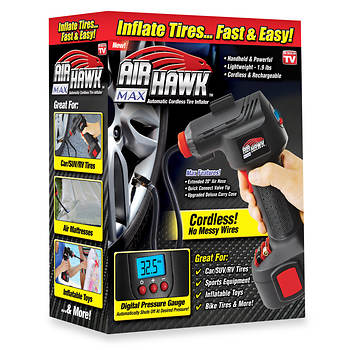 Air Hawk Deluxe Cordless Tire Inflator With Carry Bag Bjs